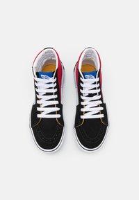 Vans - SK8 UNISEX - High-top trainers - black/chili pepper - 3