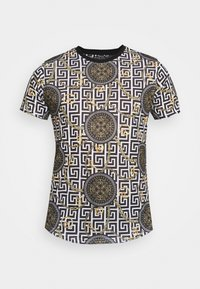 Brave Soul - CALEB - Print T-shirt - jet black - 3