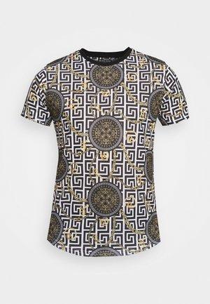 CALEB - Print T-shirt - jet black