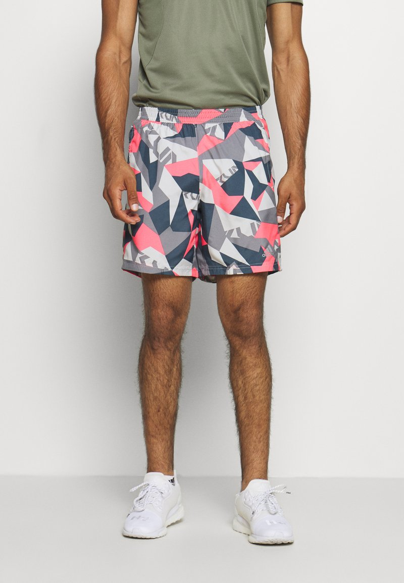 adidas Performance - RUN IT CAMO - Sports shorts - orbit grey/signal pink/legend blue