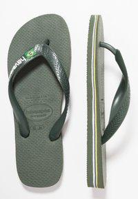 Havaianas - BRASIL LOGO - Pool shoes - green olive - 1