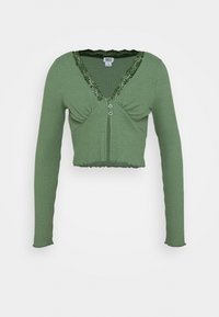 BDG Urban Outfitters - VNECK LACE CARDIGAN TOP - Kardigan - green - 0