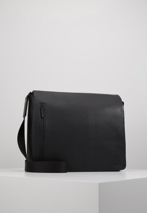 HYBRID MESSENGER BAG PEBBLE - Dataveske - black