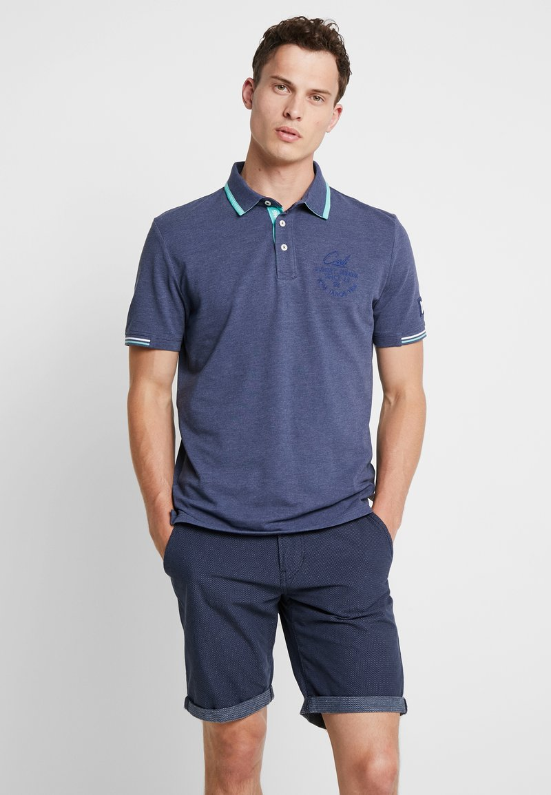 TOM TAILOR - DECORATED  - Poloshirts - bright cosmos blue melange