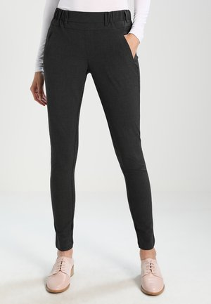 JILLIAN SOFIE  - Trousers - dark grey melange
