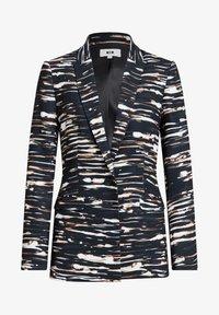 WE Fashion - MET STRETCH EN DESSIN - Blazer - black/white/ orange - 5