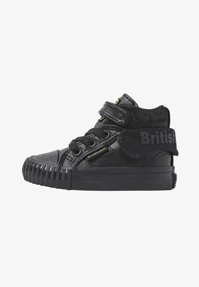 ROCO - Sneakersy wysokie - black/black leopard/black