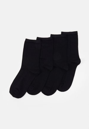 PCELISA SOCKS 4 PACK - Skarpety - black