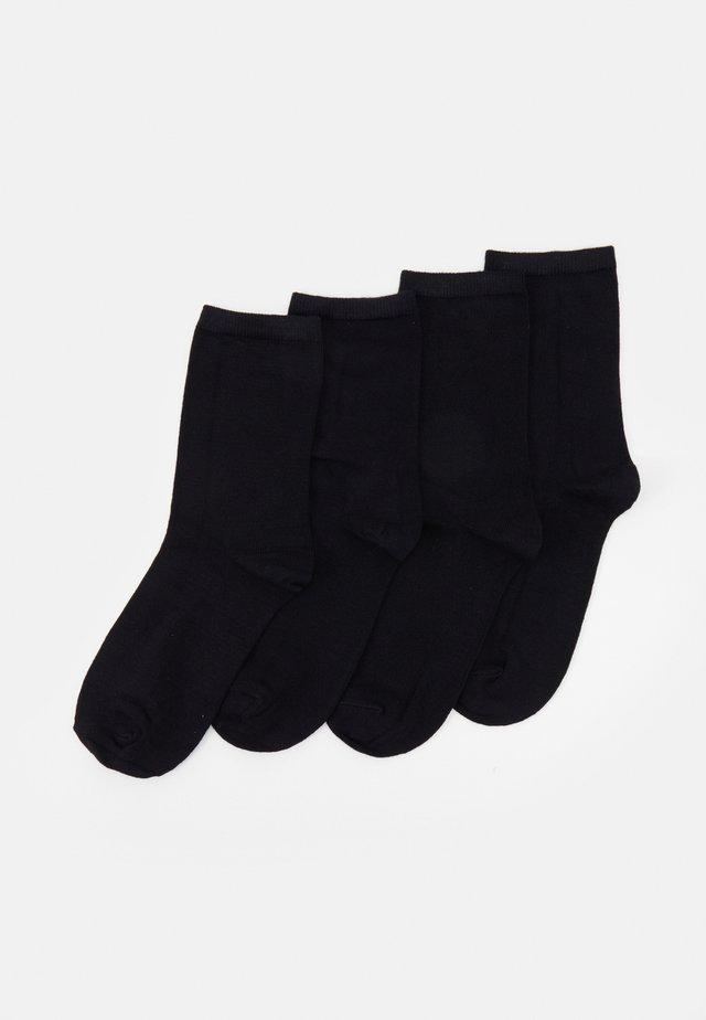 PCELISA SOCKS 4 PACK - Skarpety - black