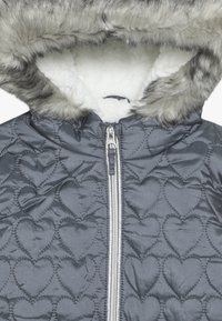 mothercare - OUT PADDED COAT QUILTED HEART  - Winter coat - grey - 3