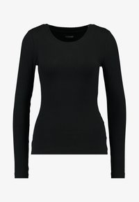 Even&Odd Tall - BASIC CREW NECK LONG SLEEVES - Long sleeved top - black - 4