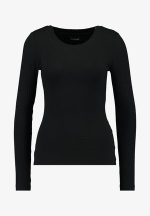 BASIC CREW NECK LONG SLEEVES - Long sleeved top - black