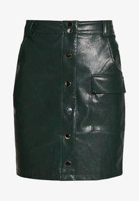 BUTTON FRONT SKIRT - Áčková sukně - dark green