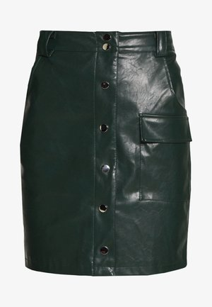 BUTTON FRONT SKIRT - Áčková sukně - dark green