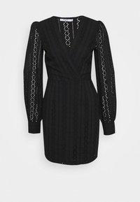 CROCHET DRESS - Vestido informal - black