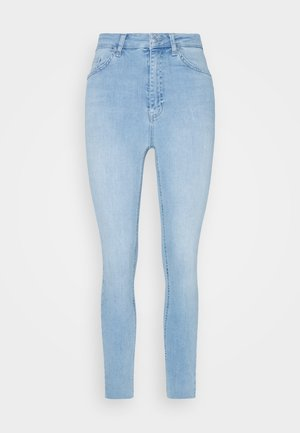 HIGH WAIST RAW HEM - Jeans Skinny Fit - light blue