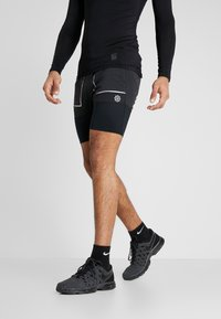 Nike Performance - M NK SHORT 7IN FUTURE FAST - Pantalón corto de deporte - black/dark smoke grey/reflective silver - 0