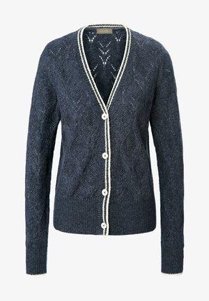 Strikjakke /Cardigans - jeansblau-melange