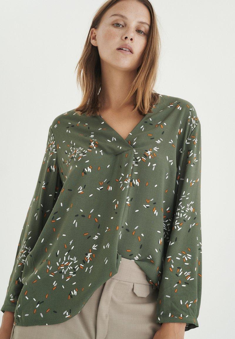 InWear - Long sleeved top - beetle green springels