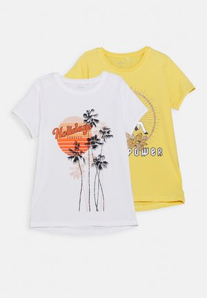 NKFVIX 2 PACK - T-shirt print - sunset gold
