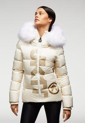 Down coat - pearl white/gold