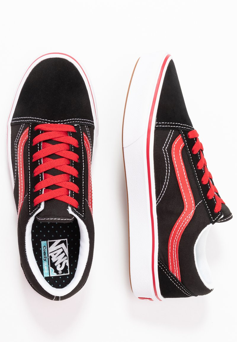 Vans - COMFYCUSH OLD SKOOL - Zapatillas - black/red