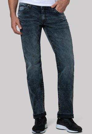 Straight leg jeans - blue black vintage