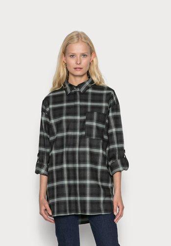 ZAPLENA - Button-down blouse - dark sage