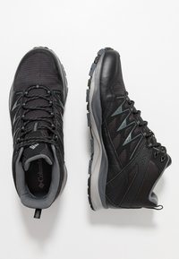 Columbia - WAYFINDER OUTDRY - Hiking shoes - black, steam - 1