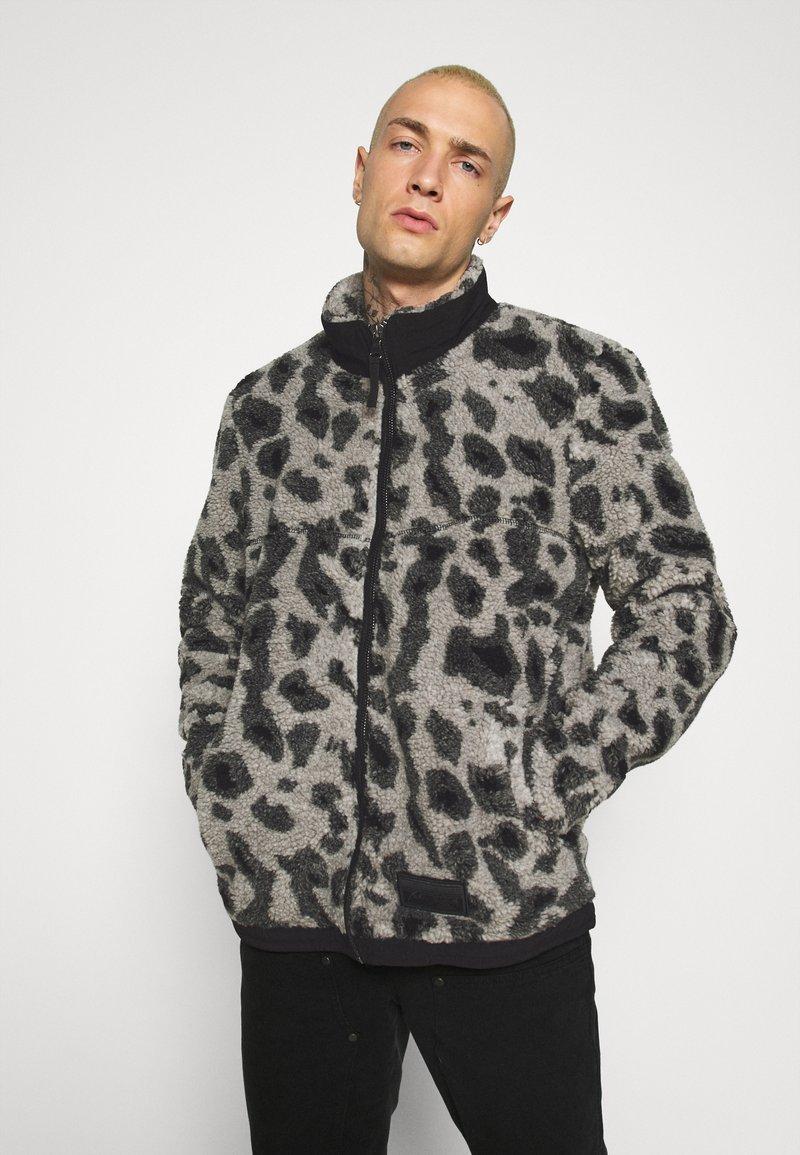 Topman - ANIMAL BORG JACKET - Winter jacket - grey