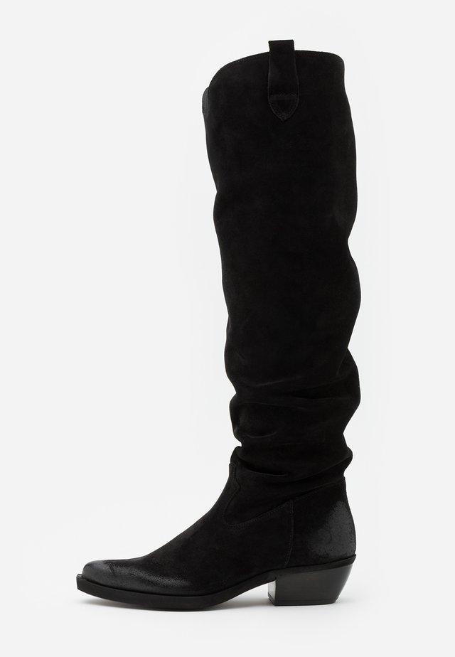 EL PASO - Stivali sopra il ginocchio - nirvan nero