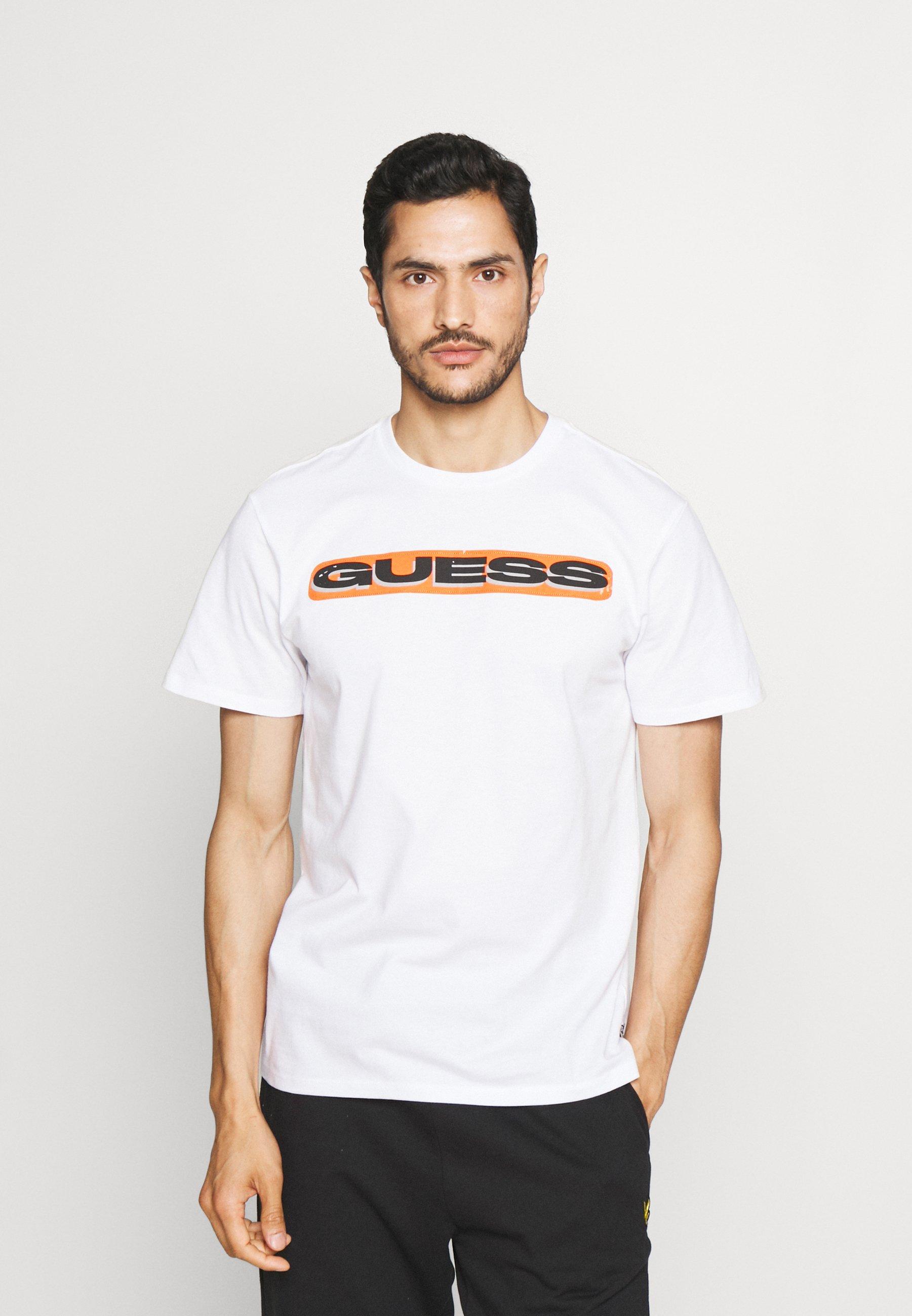 Men STICKER LOGO TEE - Print T-shirt