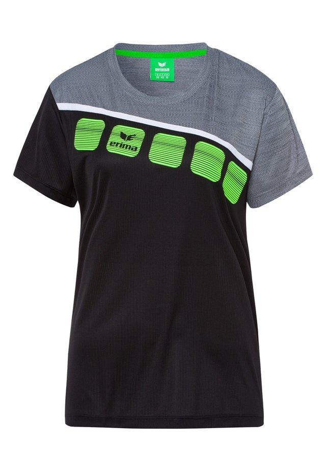 Print T-shirt - black/gray