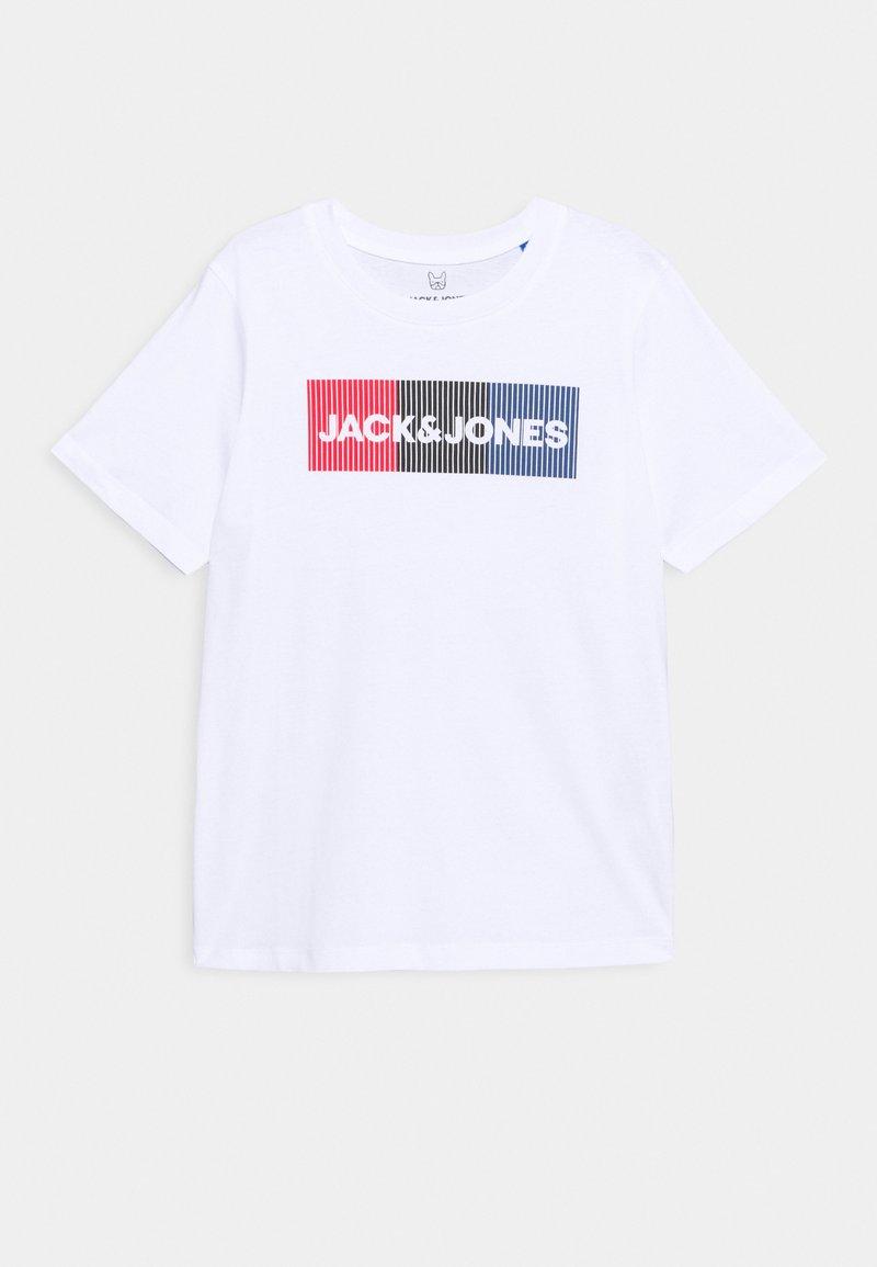 Jack & Jones Junior - JJECORP LOGO - T-shirt con stampa - white