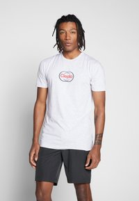 Cleptomanicx - CLEWO - Print T-shirt - light heather gray - 0