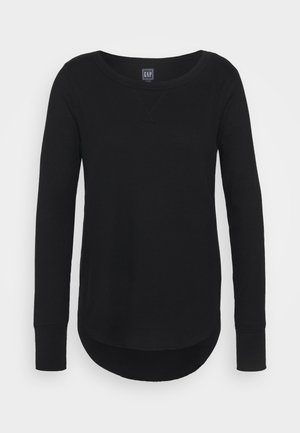 WAFFLE - Long sleeved top - true black