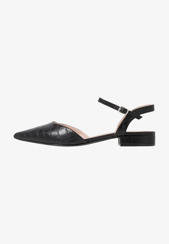 WIDE FIT BONITA - Sandales - black