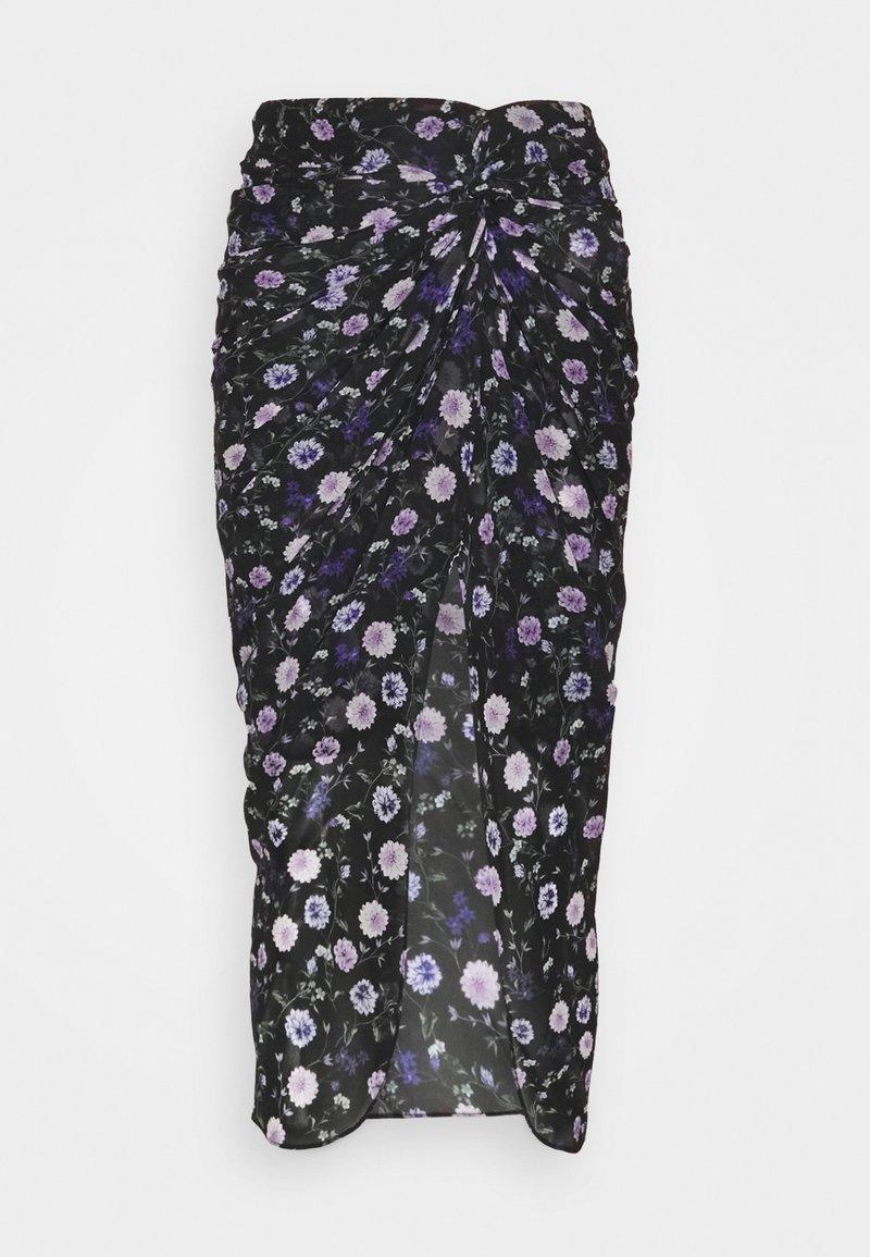 The Kooples - SKIRT - Pencil skirt - black purple