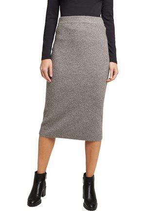 Pencil skirt - gunmetal