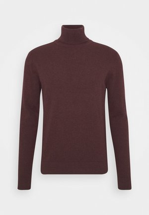 Sweter - mottled bordeaux