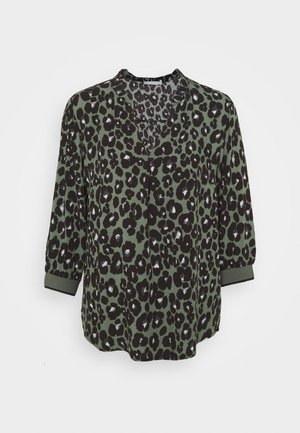 Blouse - khaki/black