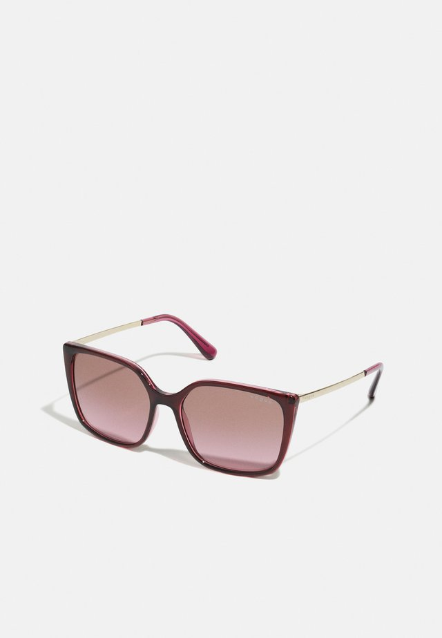 Sunglasses - top red on transparent pink