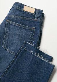 Mango - Straight leg jeans - donkerblauw - 6