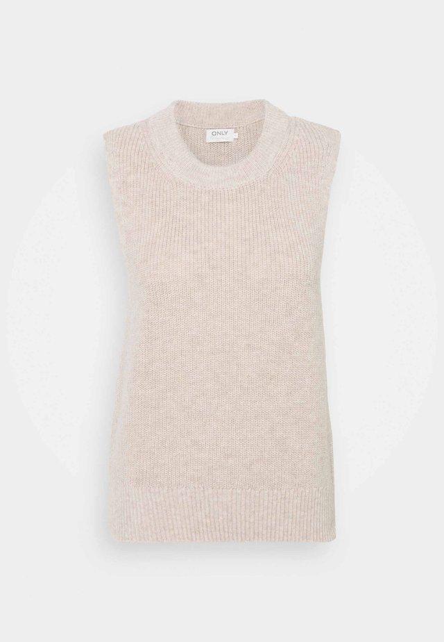 ONLPARIS LIFE VEST - Stickad tröja - pumice stone/melange
