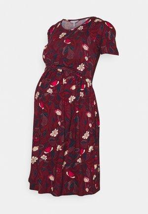 LIMBO - Jerseyklänning - raisin/white