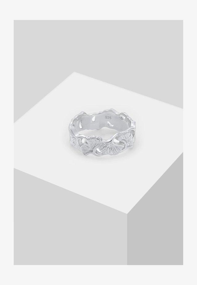 GINGKO BLATT TROPIC  - Ringar - silber