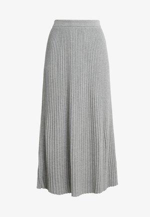 SCILLA - Pleated skirt - hellgrau