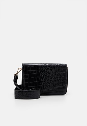 PCDILISH CROC CROSS BODY - Skulderveske - black