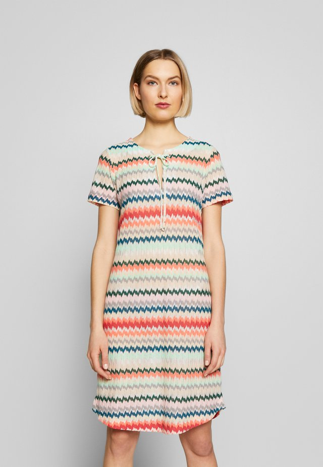 Gebreide jurk - multicolour