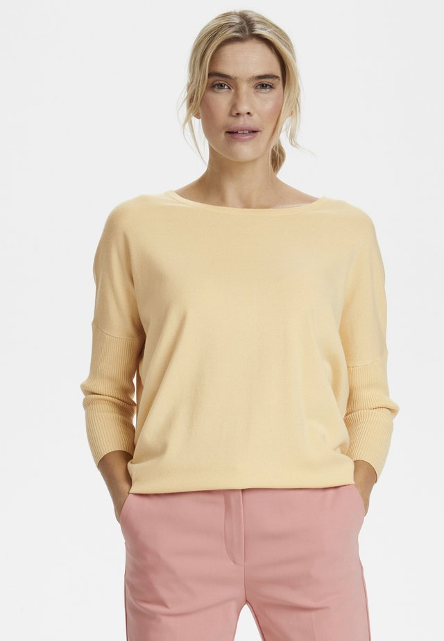 MILA NECK - Strickpullover - yellow